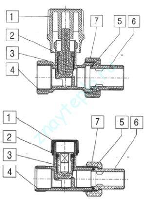 Как устроен вентиль для радиатора?