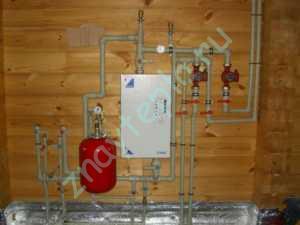 отопление с помощью электрического котла.