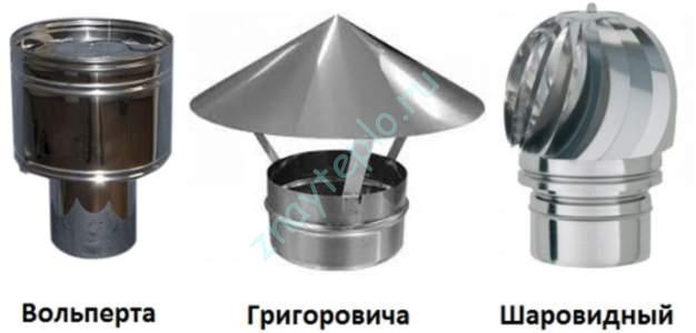 виды дефлекторов для дымохода