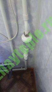 Полифосфатный фильтр на водонагревателе
