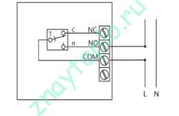 Схема подключения комнатного термостата